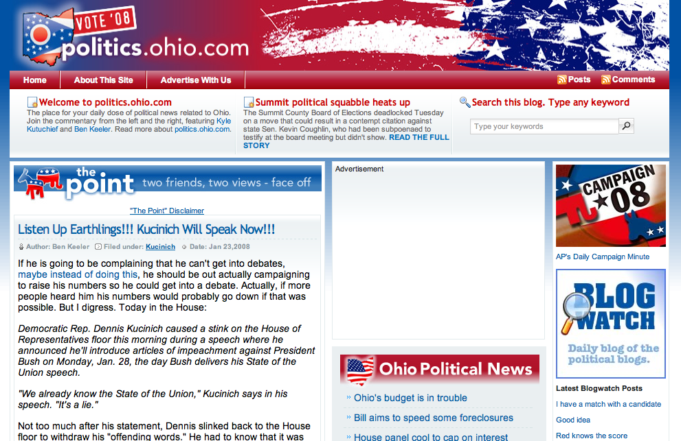 ABJ new ohio politics site