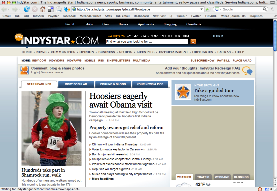 IndyStar beta version of GO4 design